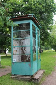 Soviet era telephone booth. Phone not included